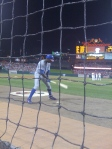 Soriano Prepares to Bat