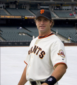 Matheny poses as a member of the San Francisco Giants (photo by Jared Kelly via Flickr)