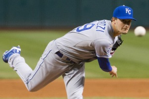 Starting pitcher Jake Odorizzi #49 of the Kansas City Royals