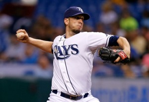 Pitcher James Shields #33 of the Tampa Bay Rays